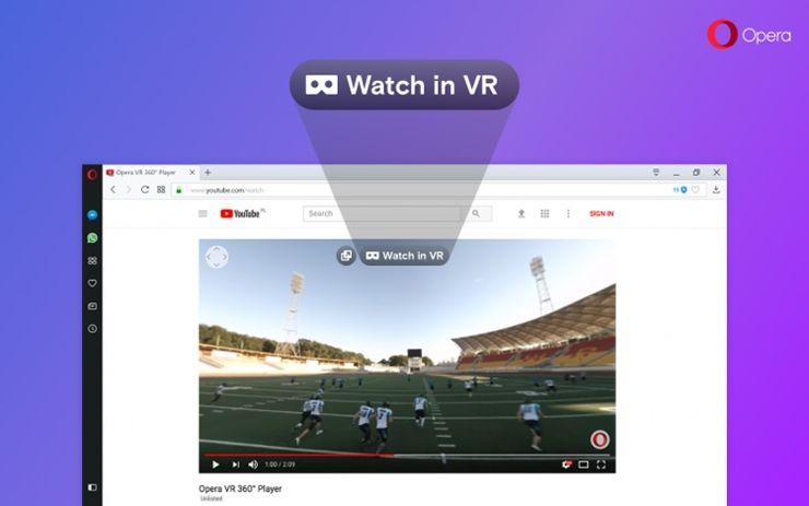 Браузер Opera теперь умеет показывать видео в формате 360 градусов (VR)