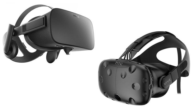 Самые популярные шлемы VR: Oculus Rift и HTC Vive