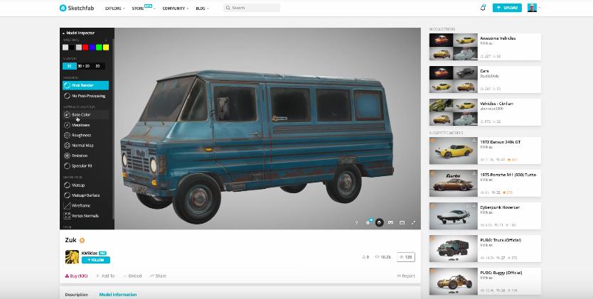 Sketchfab: теперь на 3D моделях можно заработать!