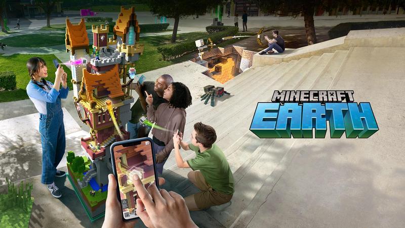 Minecraft Earth - новая AR игра от Microsoft